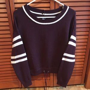 Crew neck varsity sweater